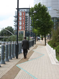 Modern Leeds by the RIver Aire