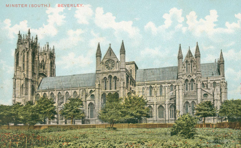Beverley Minster, Old postcard