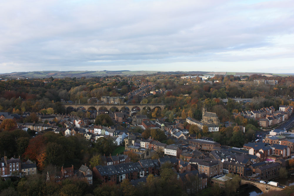 Durham viaduct viewed from Durham Cathedral tower