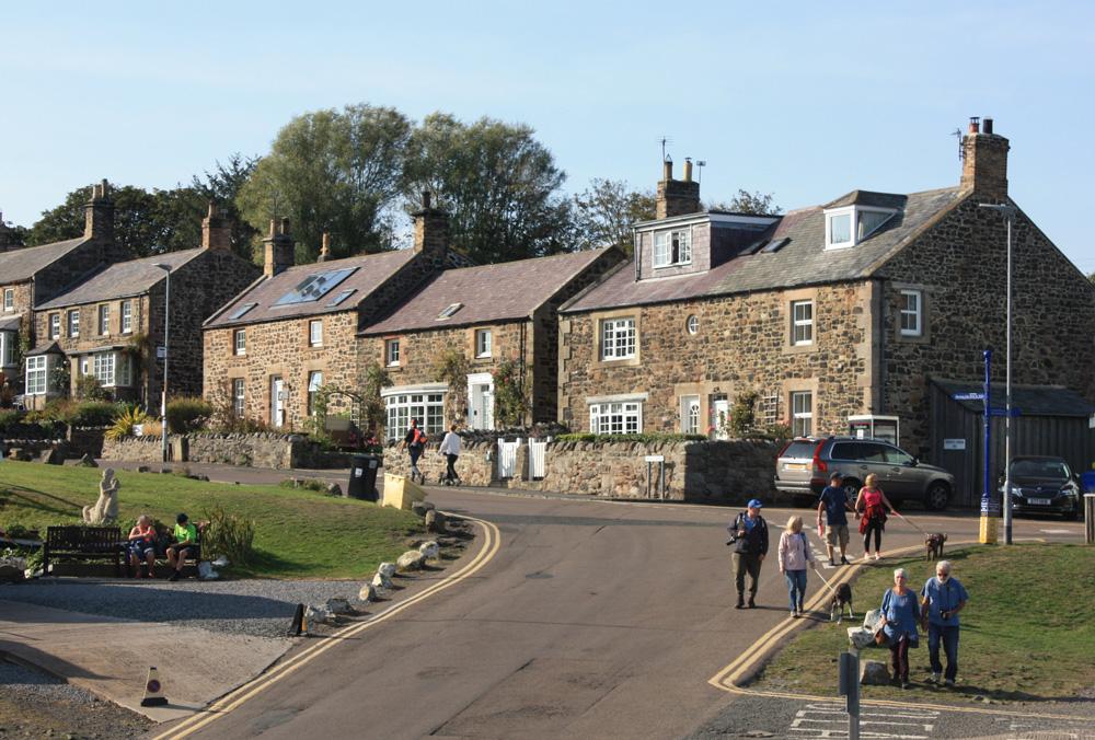 Craster, a popular tourist spot