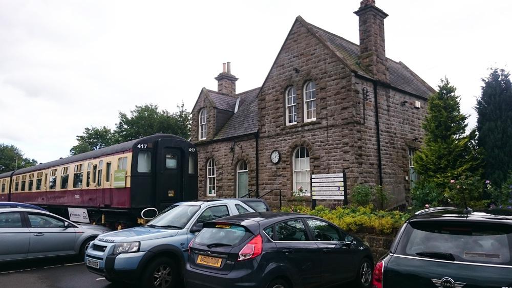 Railway carriage tearooms at Bellingham