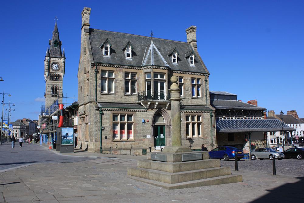 Darlington, Town Hall, markets, market place
