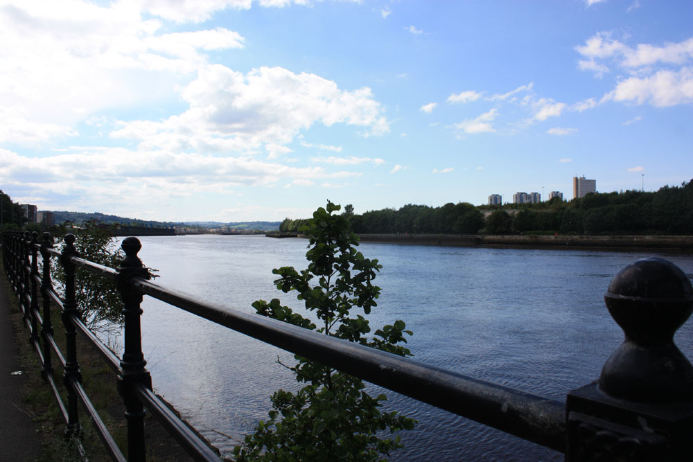 High rise housing in the Scotswood area viewed from across the river