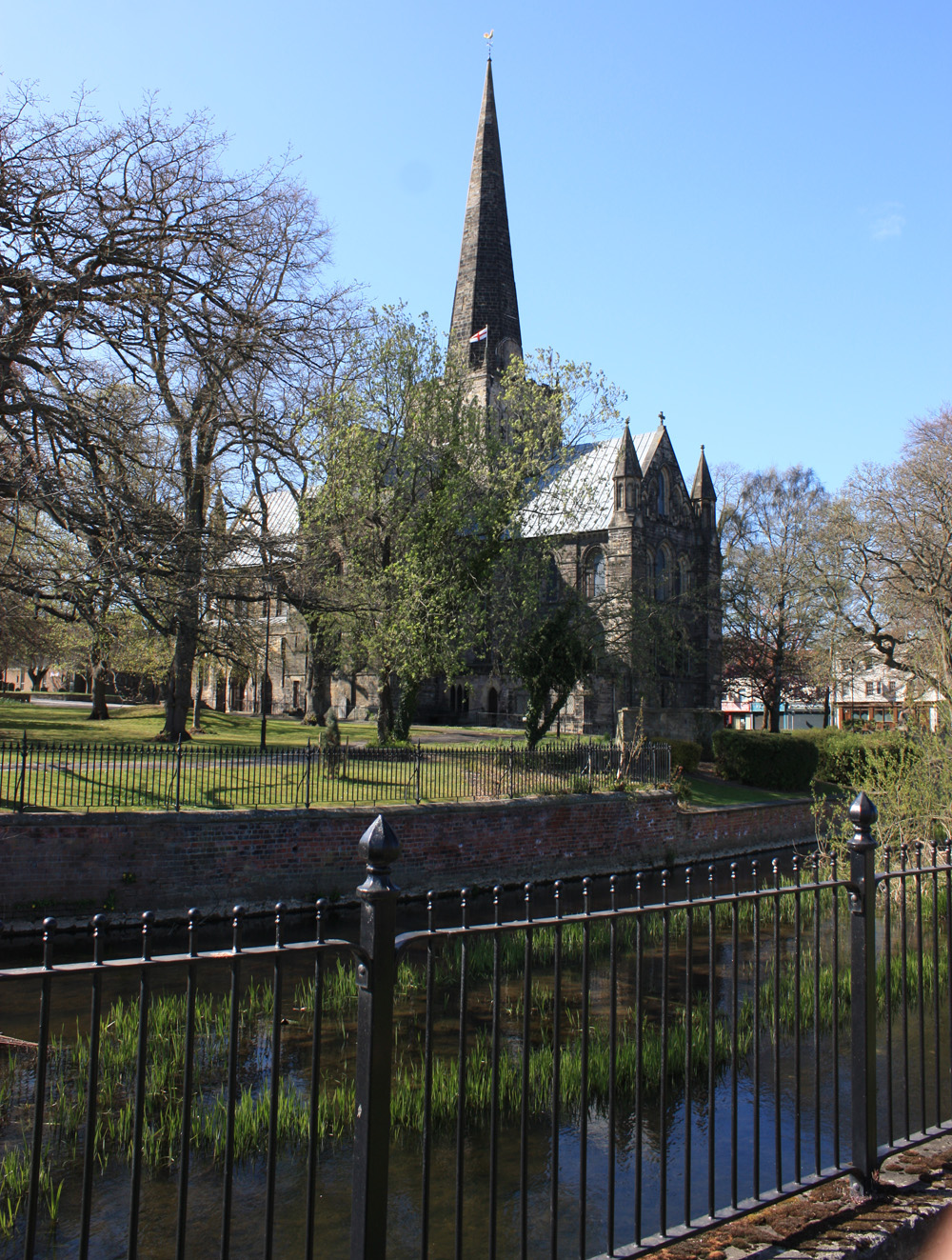 River Skerne and Church of St Cuthbert, Darlington