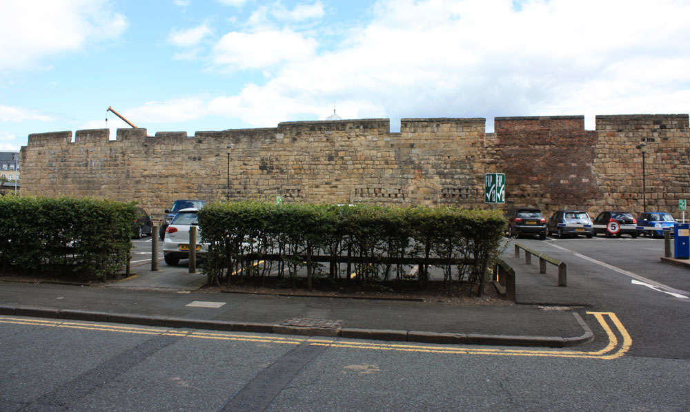 Town Wall, Newcastle. Orchard Street