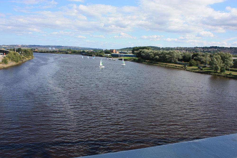 River Tyne from the Scotswood Bridge