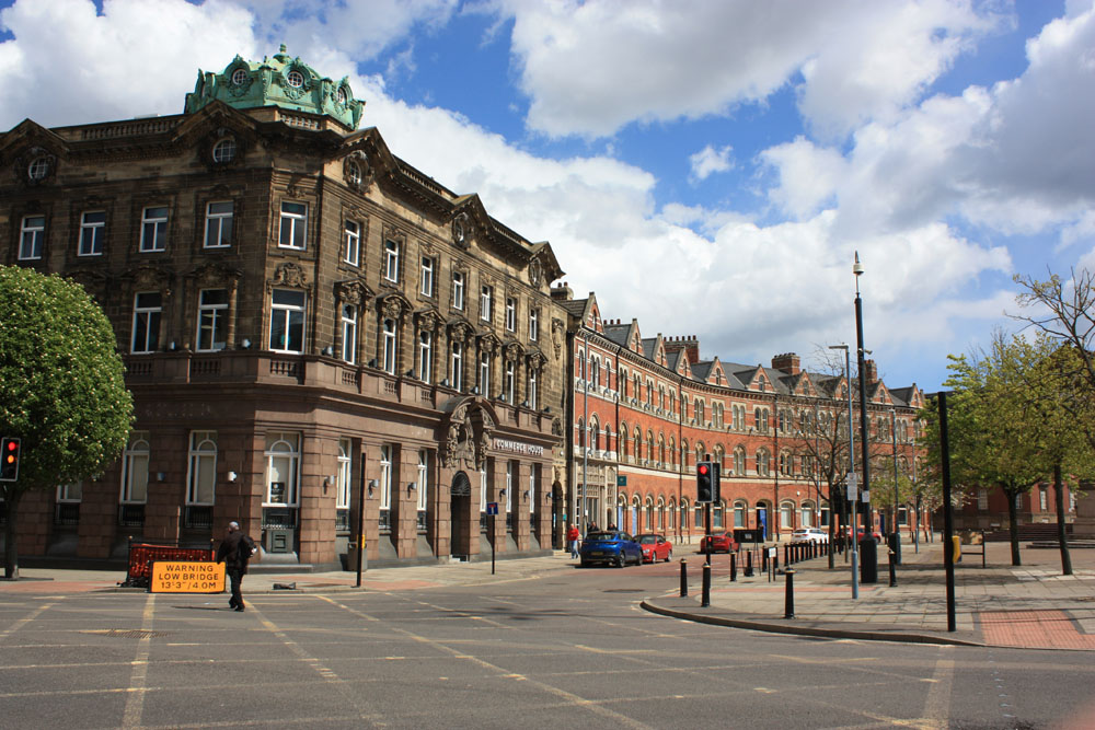 Commerce House on the corner of Exchange Square, Middlesbrough