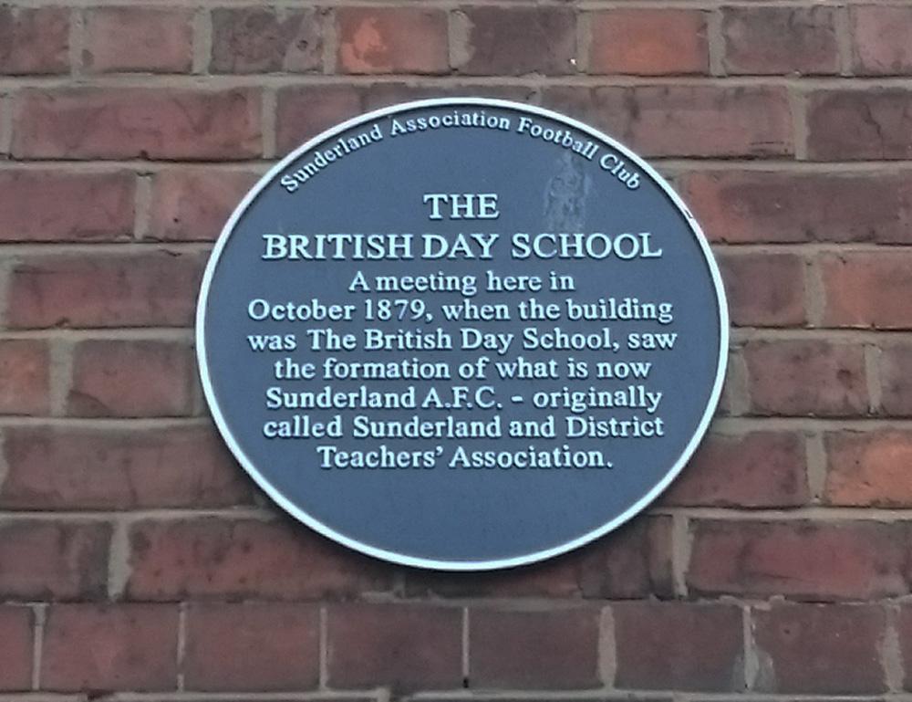 Sunderland AFC foundation plaque, Norfolk Street