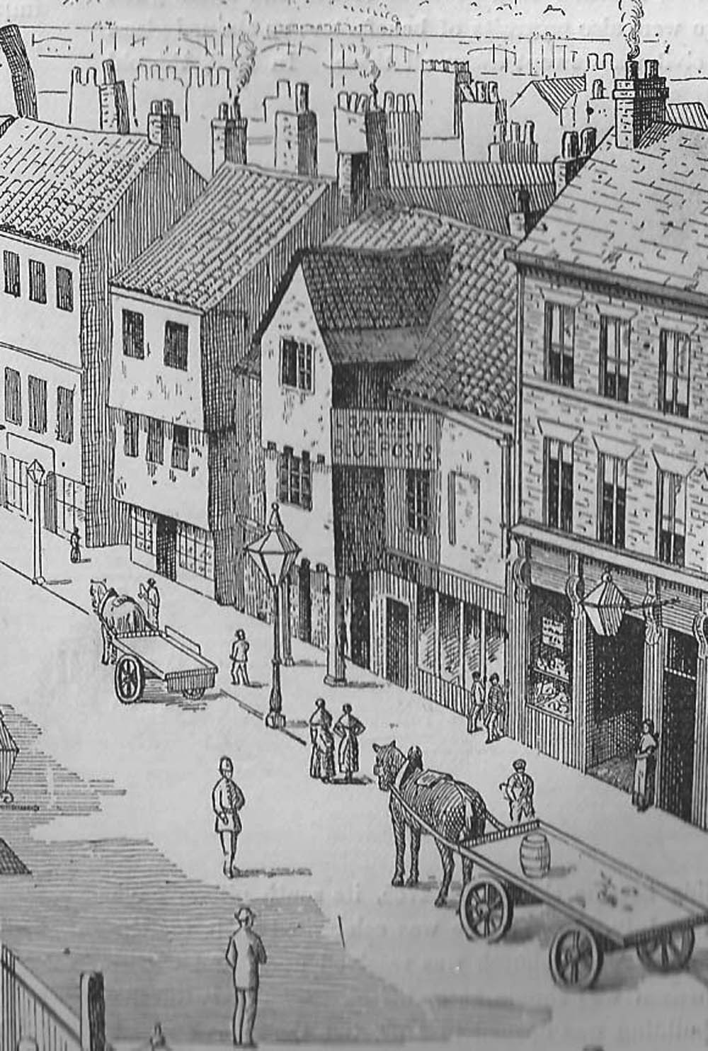Victorian view of Pilgrim Street