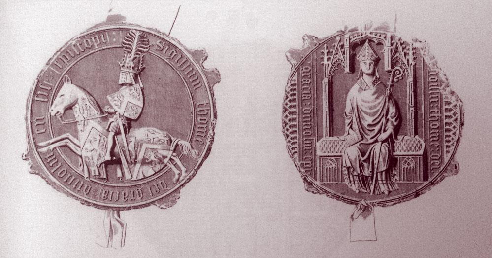 Palatinate seal of Prince Bishop Thomas Hatfield