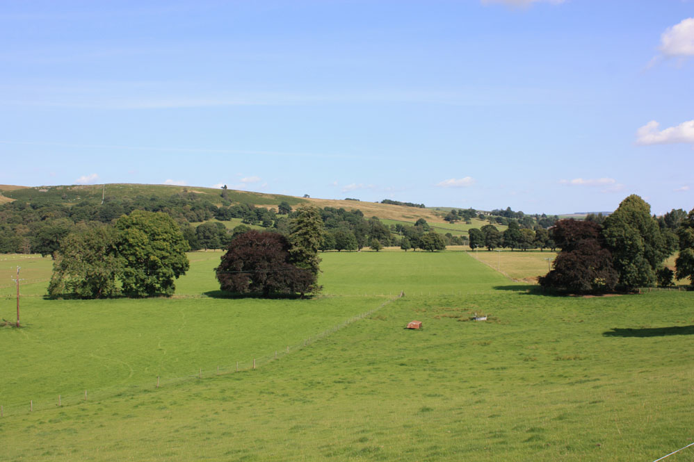 Broad valley of the North Tyne near Hesleyside