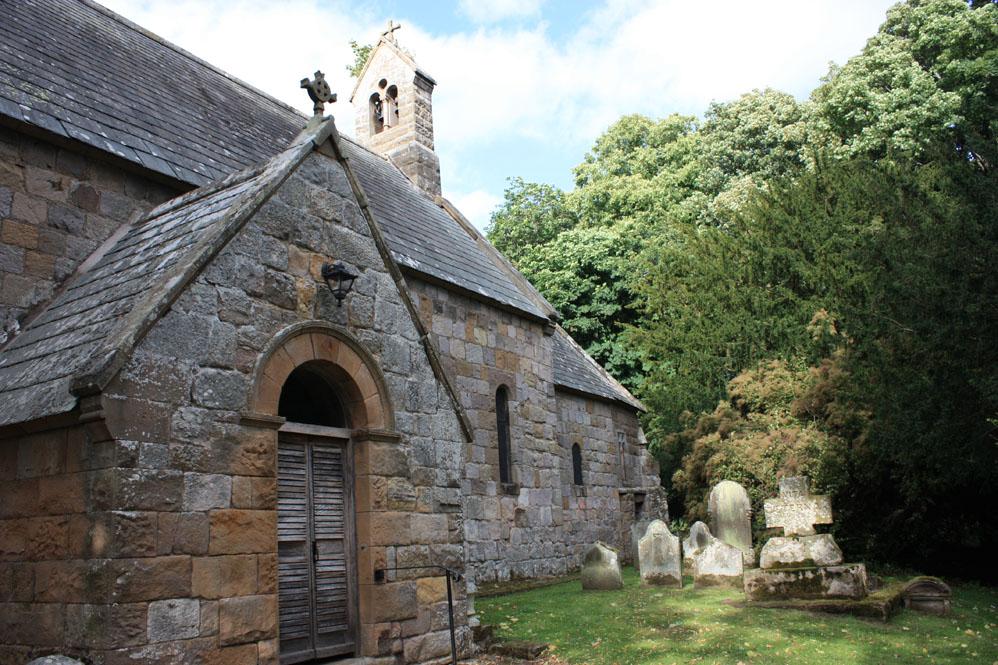 Old Bewick church