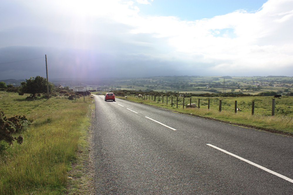 On the road at Cockfield Fell