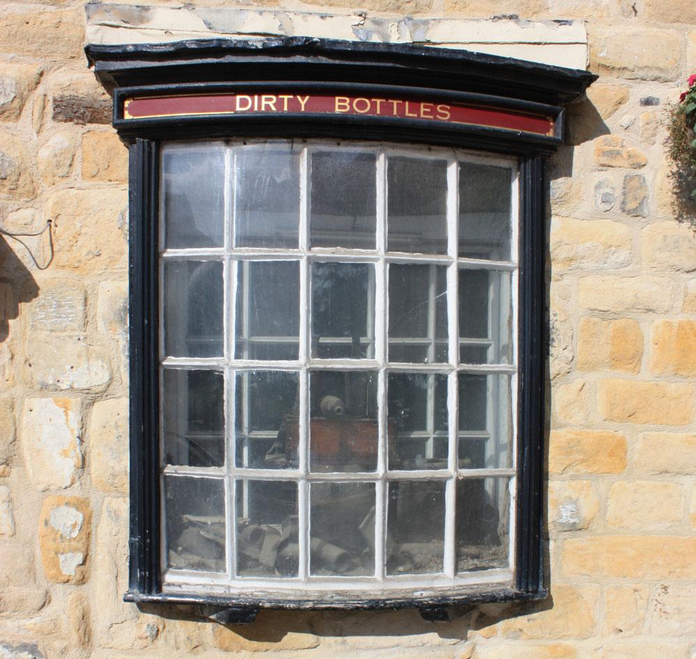 Dirty Bottles window, Alnwick