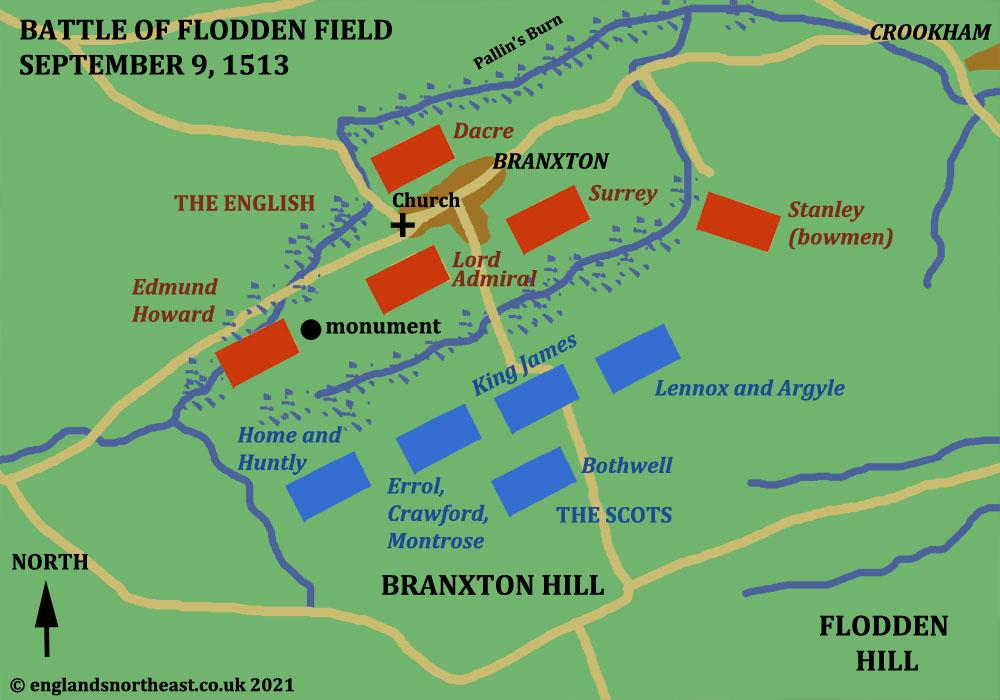 Layout plan of The Battle of Flodden Field, 1513