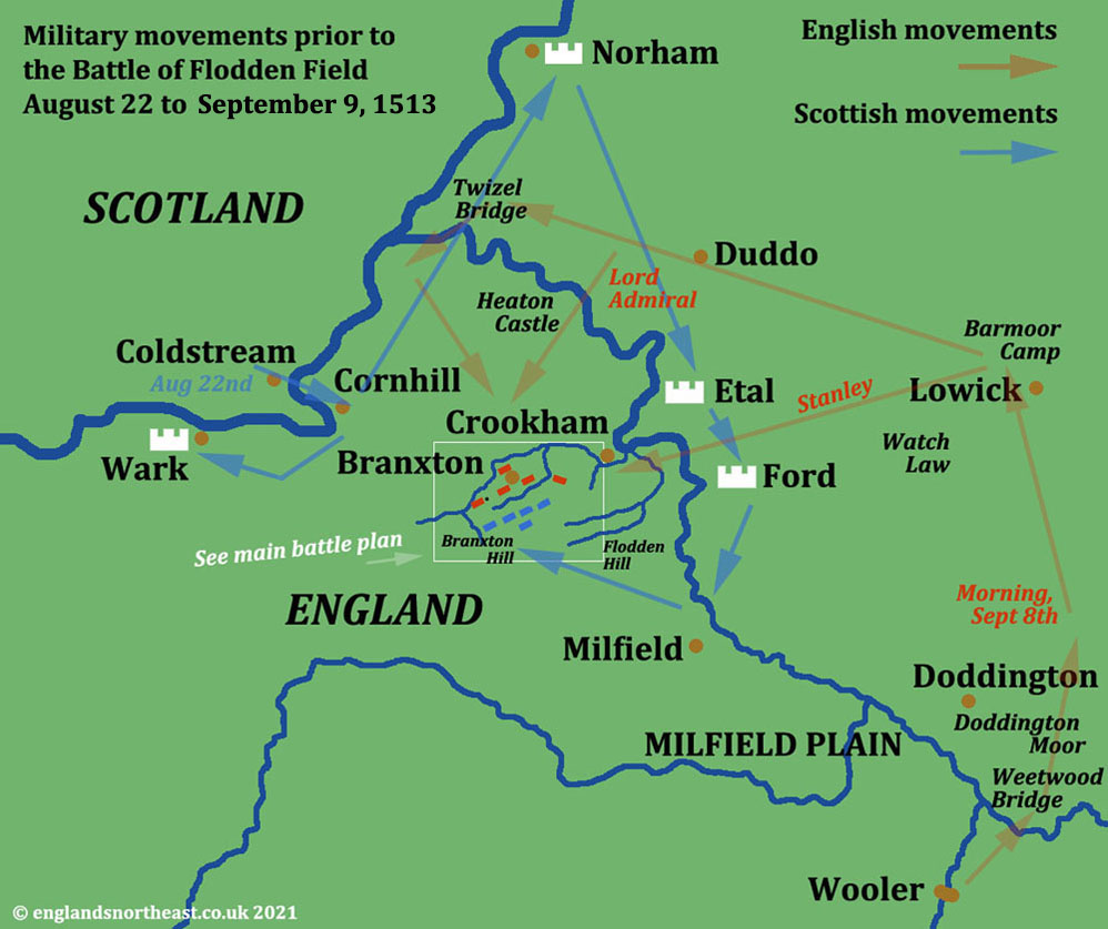 Military movements prior to the Battle of Flodden Field