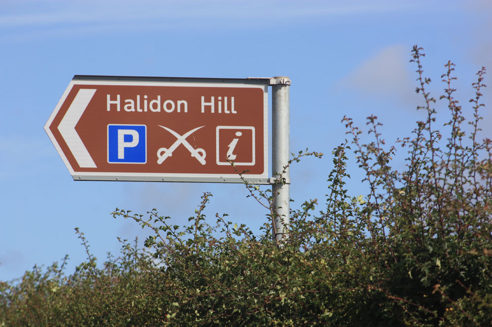 Signpost, Halidon Hill battle site
