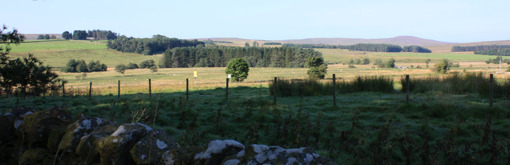 View near the battlefield site, Otterburn