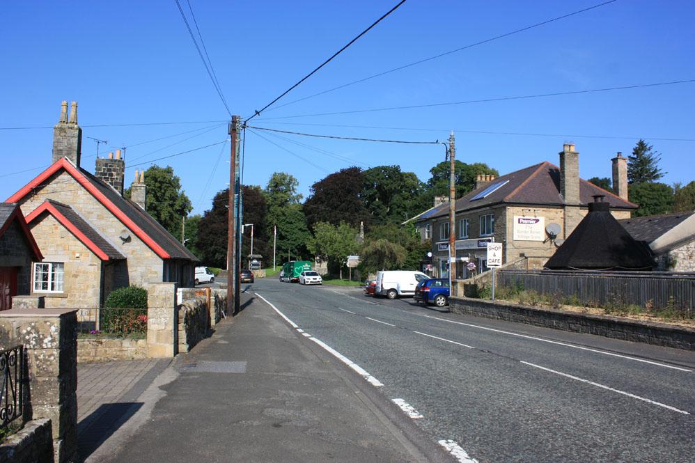 Otterburn main street is the A696