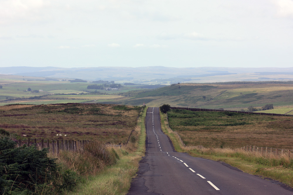 Heading into Redesdale from the wilds of the Wannies