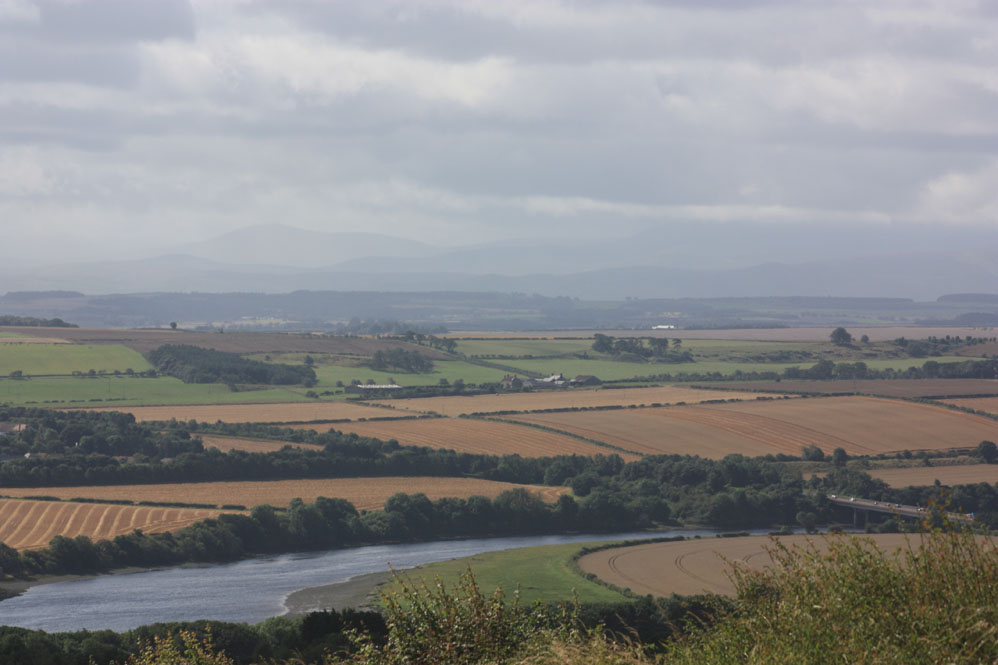 The River Tweed west of Berwick viewed from Halidon Hill