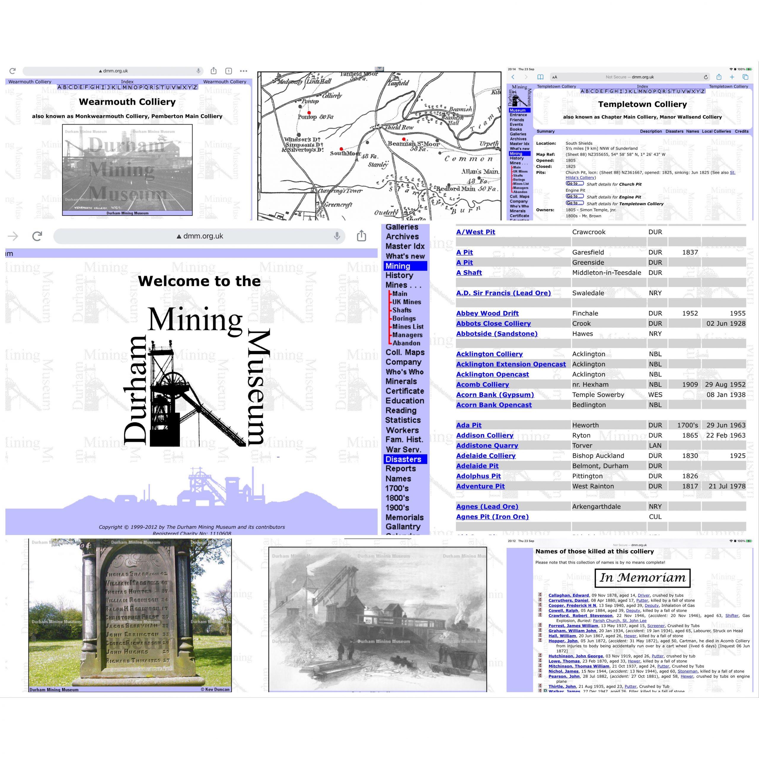 The Durham Mining Museum website