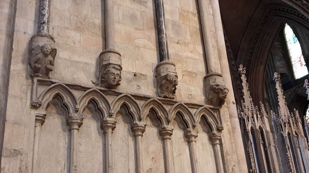 Faces in the stonework Durham Cathedral