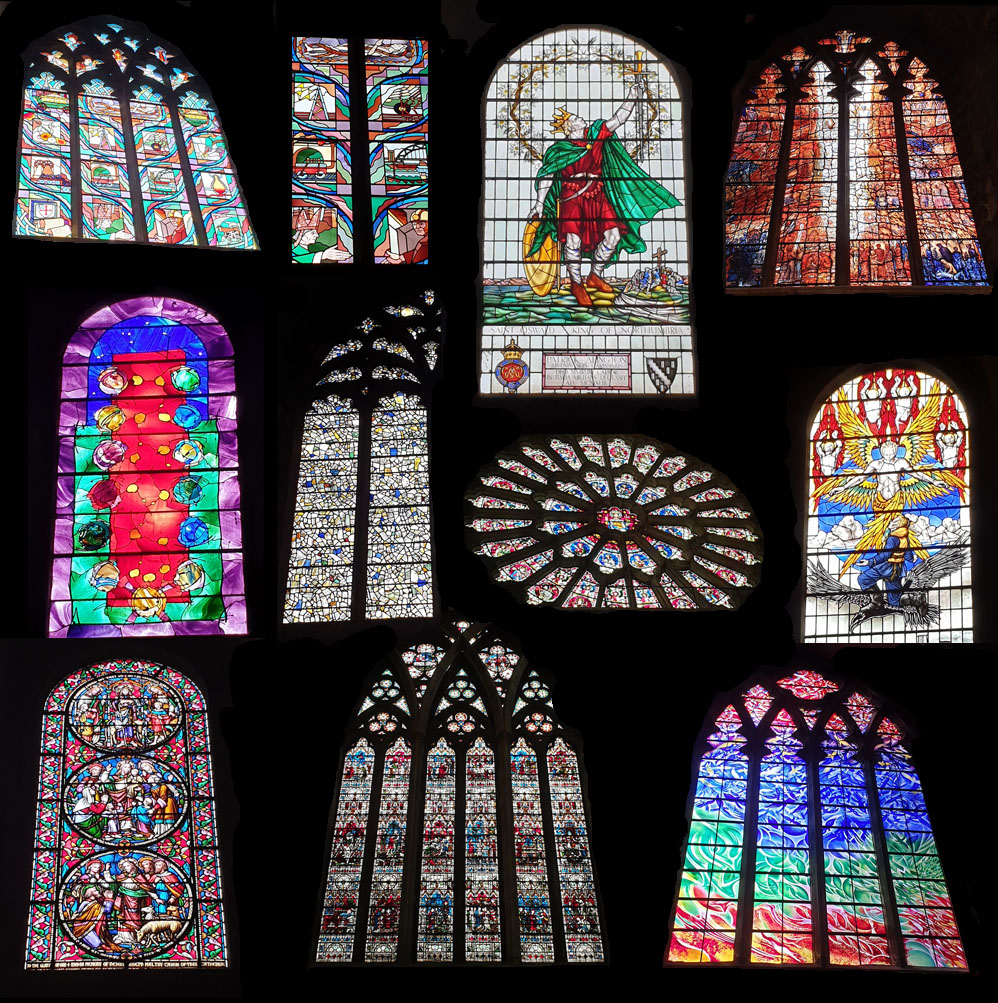 Stained Glass. Durham Cathedral