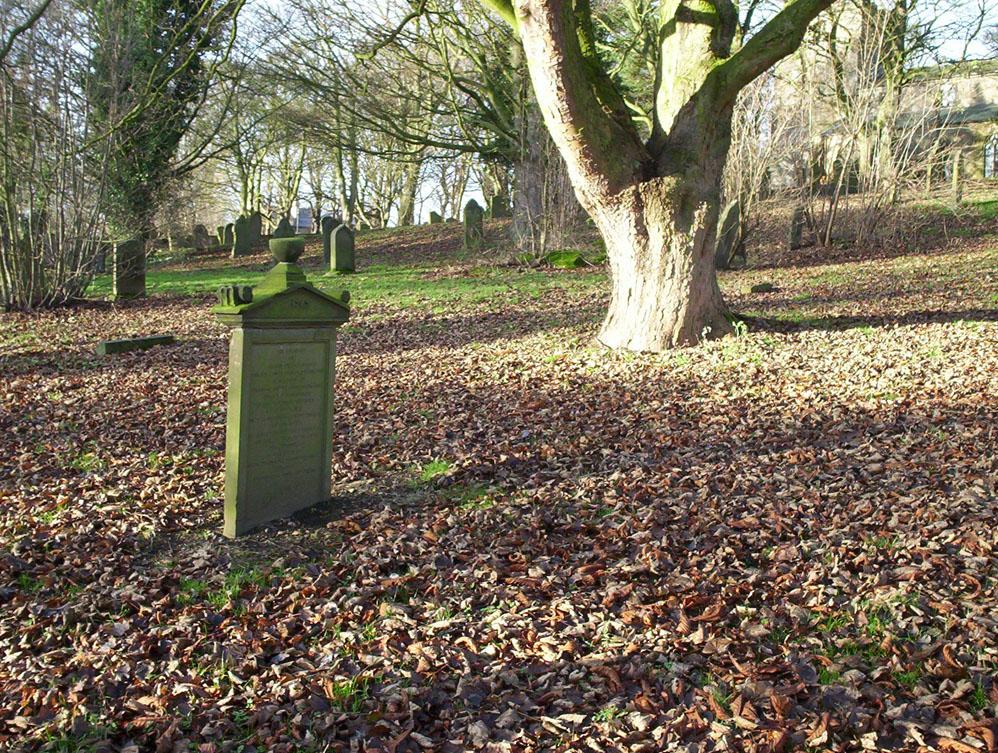 Grave of Constable David Paton in Pittington churchyard