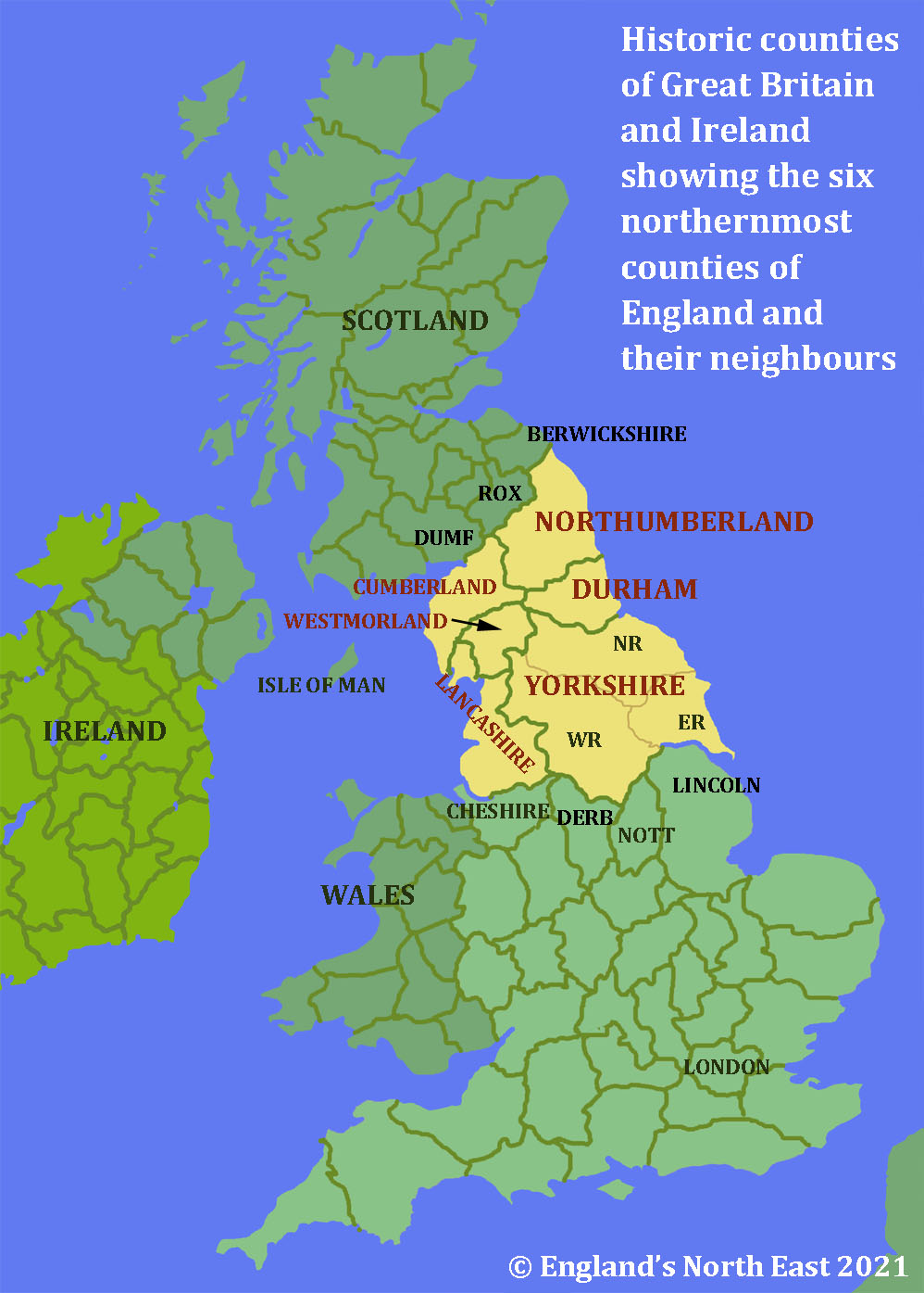 Historic counties of Great Britain and Ireland