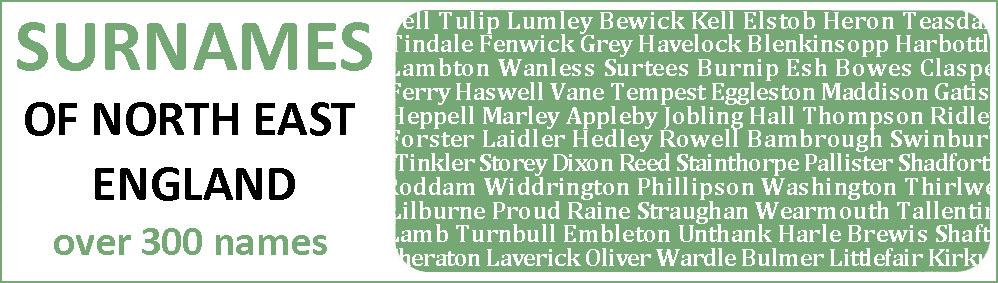 North East England surnames